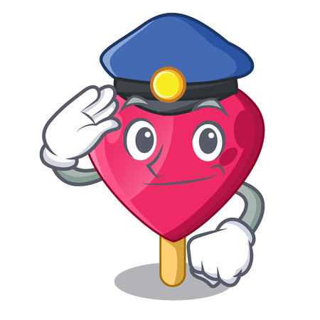 Sailor Police chocolate heart on ice cream cartoon