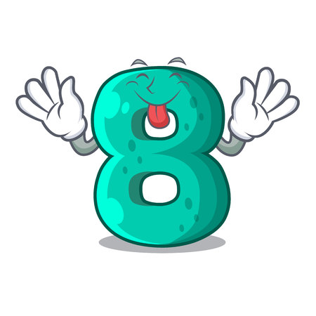 Tongue out number eight volume the mascot