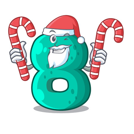 Santa with candy number eight volume the mascot