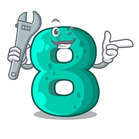 Mechanic number eight volume the mascot Illustration