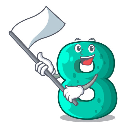 With flag number eight volume the mascot