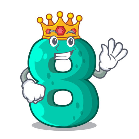 King number eight volume the mascot Illustration