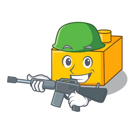 Army plastic building blocks cartoon on toy