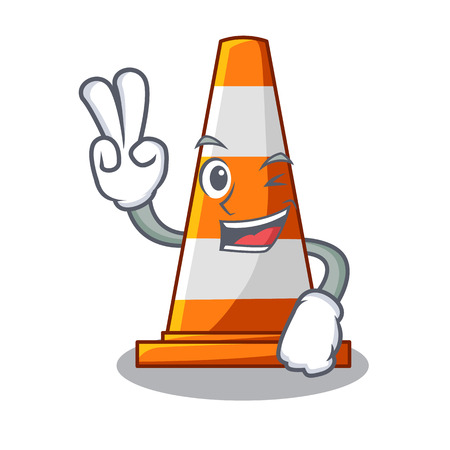 Two finger traffic cone on Made in cartoon