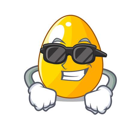 Super cool golden eggo on isolated image mascot vector illustartion Illustration
