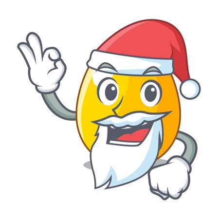 Santa golden egg with cartoon shape reflection vector illustartion Illustration