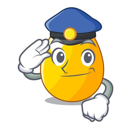 Police golden egg cartoon for greeting card vector illustartion