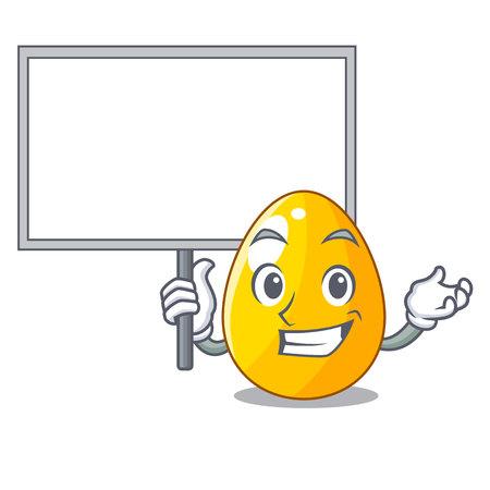 Bring board golden egg cartoon for greeting card vector illustartion