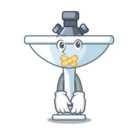 Silent bathroom ceramic sink on mascot isolated