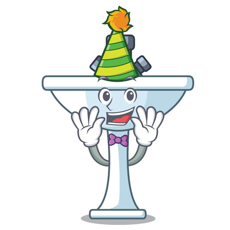 Clown bathroom ceramic sink on mascot isolated vector illustartion Archivio Fotografico - 127727666