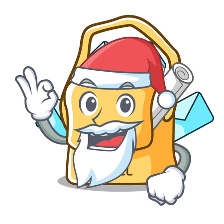 Santa mail bag character on table front vector illustration