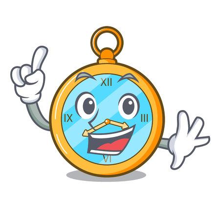 Reloj vintage de oro de dedo con ilustración de vector de dibujos animados de imagen Ilustración de vector