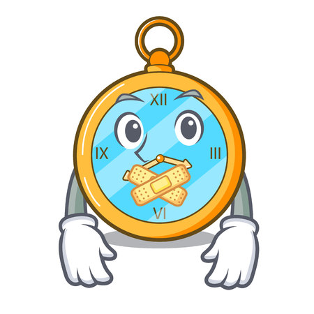 Silent gold vintage clock with picture cartoon