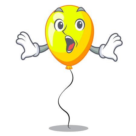 Surprised character yellow balloon ticket on holiday vector illustration Ilustrace