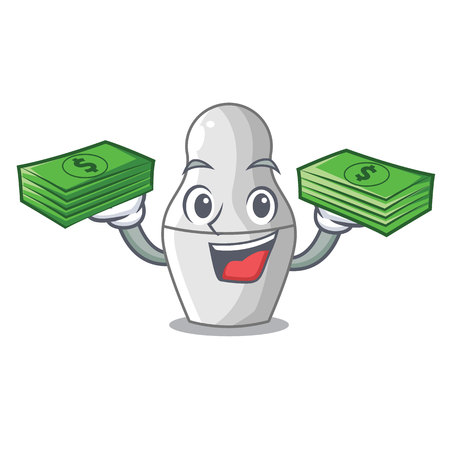 With money cartoon nesting dolls which not painted vector illustration Ilustração