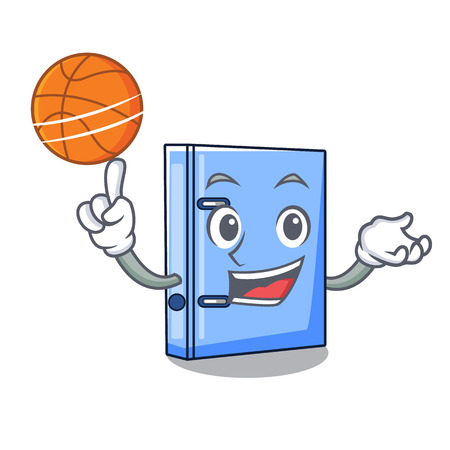 With basketball office binder with on metal cartoon vector illustration 向量圖像