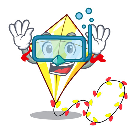 Diving kite small the cartoon on table vector illustration