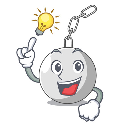 Have an idea wrecking ball attached character on hitting vector illustration Illustration