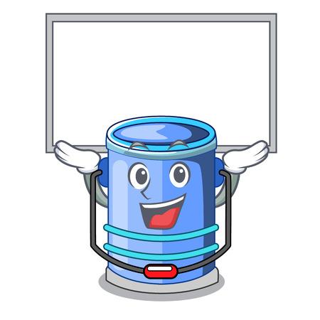 Up board cylinder bucket Cartoon of for liquid Vecteurs