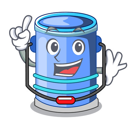 Finger bucket cylinder water in shape character vector illustration