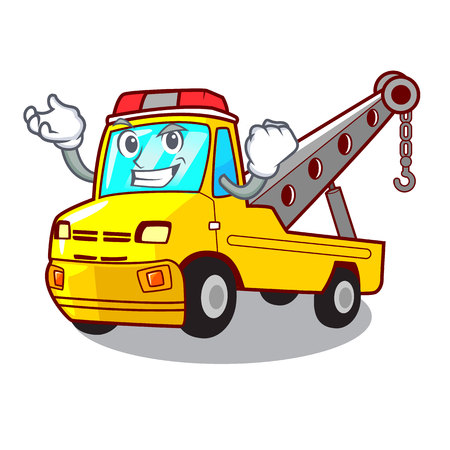 Successful truck tow the vehicle with mascot vector illustrartion Banque d'images - 127413242