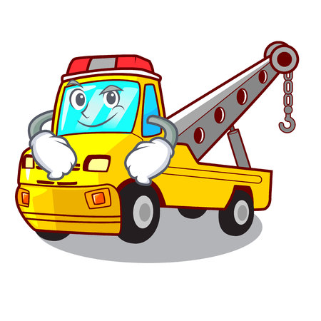 Smirking truck tow the vehicle with mascot vector illustrartion Banque d'images - 127413243