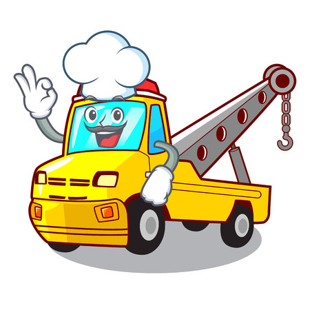 Chef truck tow the vehicle with mascot vector illustrartion Banque d'images - 127413268
