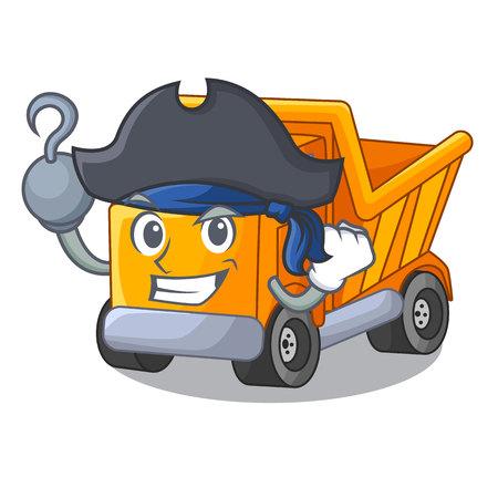 Pirate cartoon truck on the table learn Standard-Bild - 112593197
