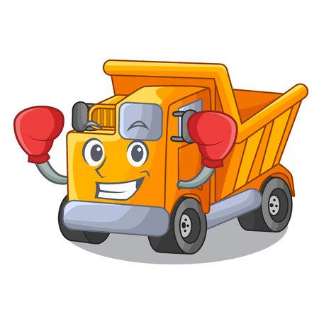 Boxing cartoon truck on the table learn Standard-Bild - 112593200