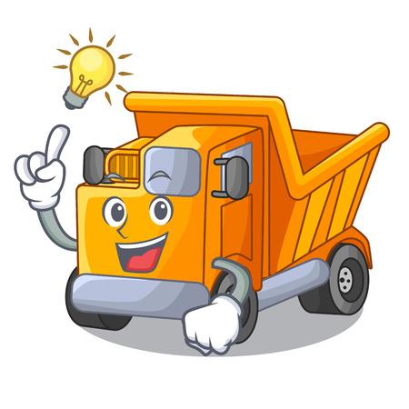 Have an idea character truck dump on trash construction Standard-Bild - 112593215