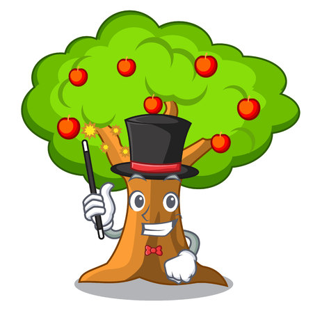 Magician apple tree in agriculture the cartoon vector illustration