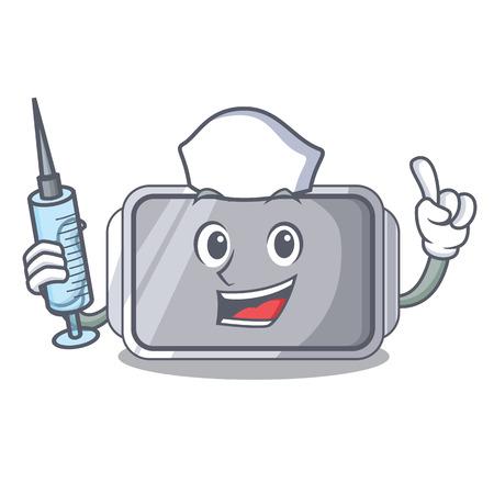 Nurse baking pan shape on the cartoon vector illustration