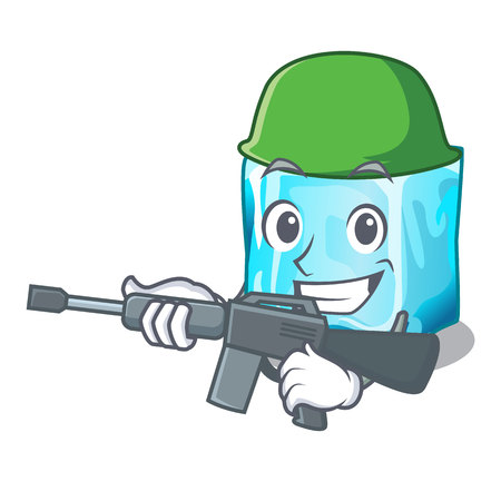 Army Ice cubes shape on the cartoon vector illustration Vectores