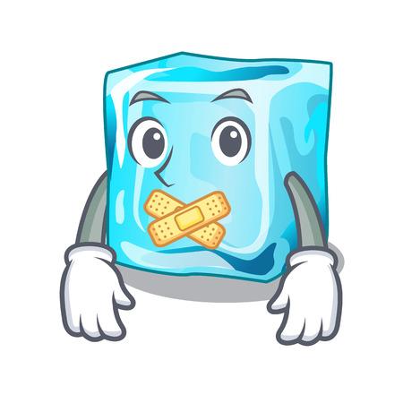 Silent ice cubes on the cartoon funny vector illustration