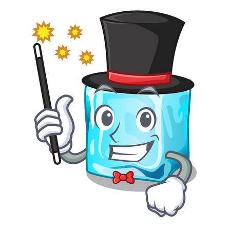 Magician ice cubes on the cartoon funny vector illustration 矢量图像
