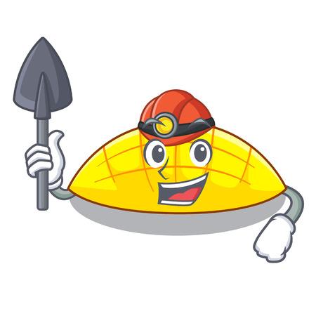 Miner slice mang on the caharacter shape vector illustration