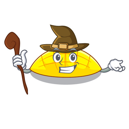 Witch slice mang on the caharacter shape vector illustration