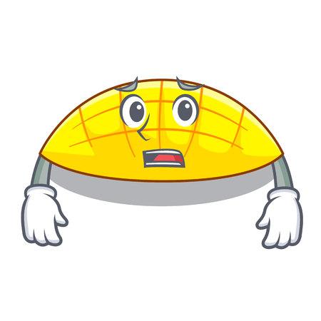Afraid slice mang on the caharacter shape vector illustration