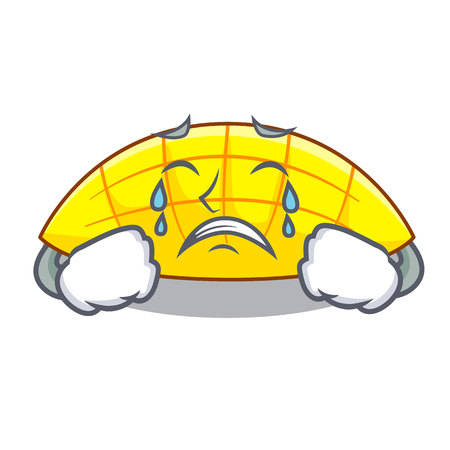 Crying slice mang on the caharacter shape vector illustration 일러스트