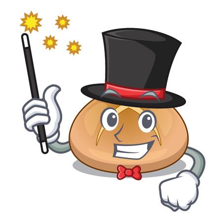 Magician hot cross buns isolated on mascot vector illustrasi Stock Illustratie