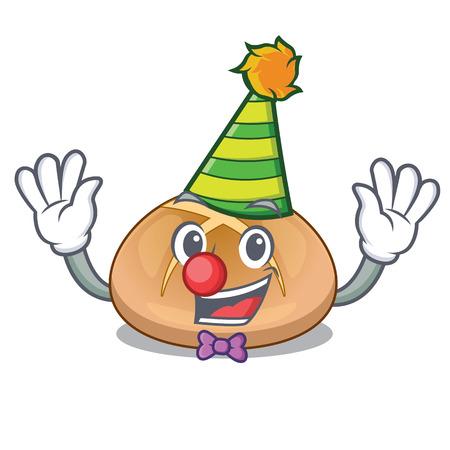 Clown hot cross buns isolated on mascot vector illustrasi Stock Illustratie