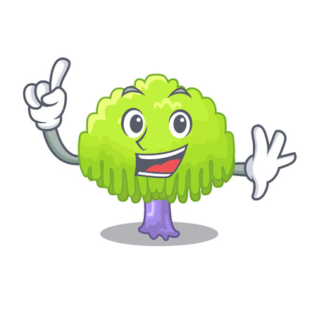 Rama de árbol de sauce de dedo para ilustración de vector de dibujos animados de marco