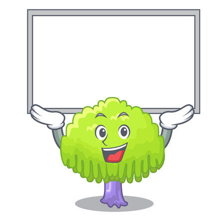 Up board isolated weeping willow on the mascot vector illustration Standard-Bild