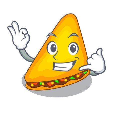 Call me cooked quesadillas parts with a cartoon vector illustration