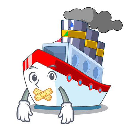 Silent ship container a in shape cartoon vector illustration