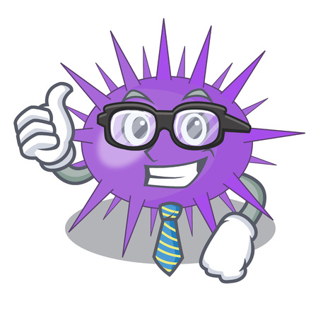 Businessman Sea urchin commonly called in cartoon vector illustration