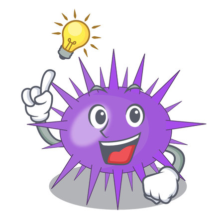 Have an idea sea urchin isolated on a character vector illustration