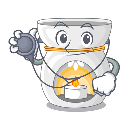 Doctor aroma lamp in a cartoon versions vector illustration Illustration