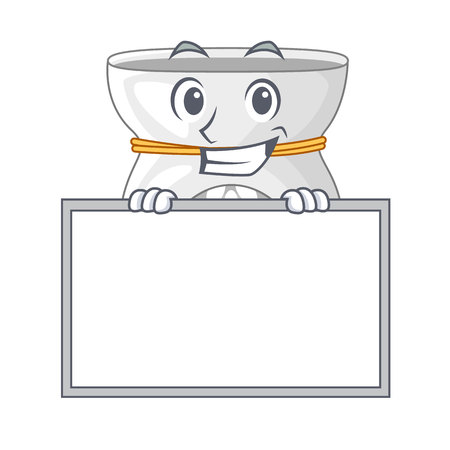 Grinning with board aroma lamp in a cartoon versions vector illustration