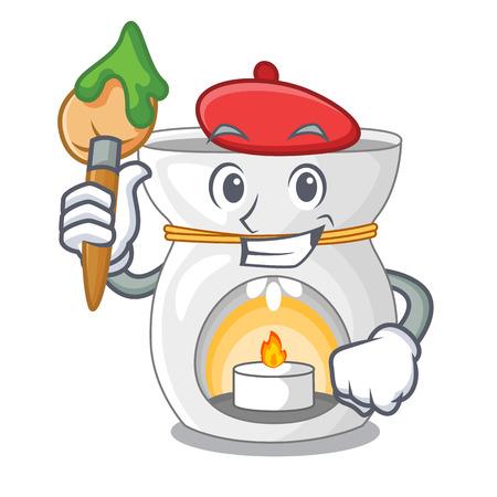 Artist aroma lamp in a cartoon versions vector illustration Illustration